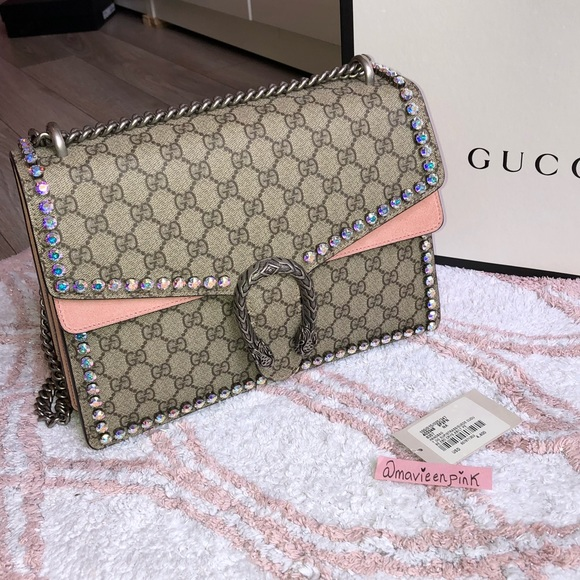 Gucci Bags   Dionysus Chain Shoulder Bag With Crystals   Poshmark e676b89001